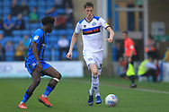 Joe Bunney takes on his man during the EFL Sky Bet League 1 match between Gillingham and Rochdale at the MEMS Priestfield Stadium, Gillingham, England on 30 March 2019.