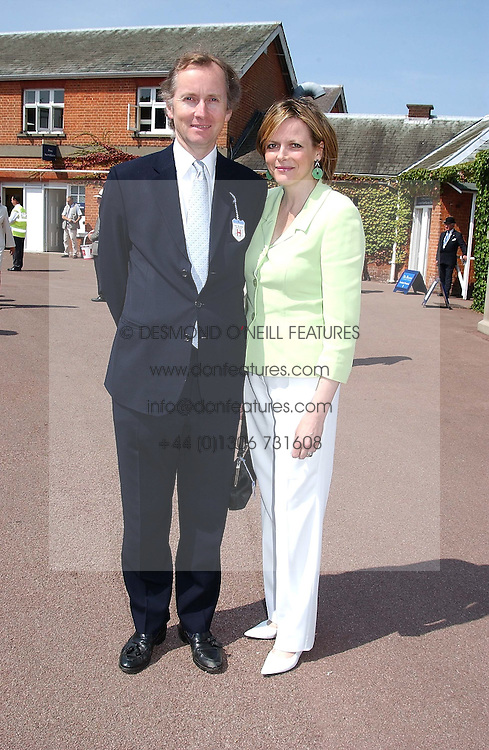 The EARL & COUNTESS OF WOOLTON at the King George VI and The Queen Elizabeth Diamond Stakes sponsored by De Beers for the 33rd year held at Ascot Racecourse, Berkshire on July 24th 2004.