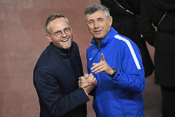 November 4, 2019, Liverpool, UNITED KINGDOM: Genk's chairman Peter Croonen and Genk's goalkeeper coach Guy Martens pictured during a training session of Belgian soccer team KRC Genk, Monday 04 November 2019 in Liverpool, United Kingdom, in preparation of tomorrow's match against English club liverpool FC in the group stage of the UEFA Champions League. BELGA PHOTO YORICK JANSENS (Credit Image: © Yorick Jansens/Belga via ZUMA Press)
