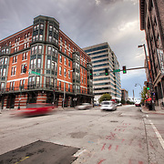 10th and Broadway, downtown Kansas City Missouri. Photography of intersections and traffic signals for Rhythm Engineering.
