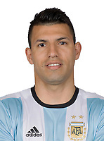 Conmebol - World Cup Fifa Russia 2018 Qualifier / <br /> Argentina National Team - Preview Set - <br /> Sergio Aguero