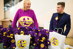 © Licensed to London News Pictures . 25/09/2015 . Doncaster , UK . UKIP teddy bears for sale for £25 at the 2015 UKIP Party Conference at Doncaster Racecourse , this morning (Friday 25th September 2015) . Photo credit : Joel Goodman/LNP
