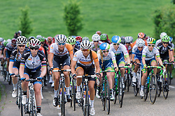 Annouska Koster (Rabo Liv) at the front of the bunch at Boels Hills Classic 2016. A 131km road race from Sittard to Berg en Terblijt, Netherlands on 27th May 2016.