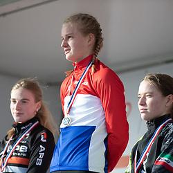 11-01-2020: Wielrennen: NK Veldrijden: Rucphen<br />Titel voor Leonie Bentveld voor Mirre Knaven en Lauren Molengraaf