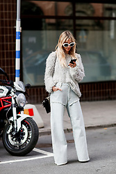 Street style, arriving at Greta Gram Spring Summer 2017 show held at Stockholms Auktionsverk, Nybrogatan 32, in Stockholm, Sweden, on August 30th, 2016. Photo by Marie-Paola Bertrand-Hillion/ABACAPRESS.COM