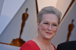Meryl Streep arrives to the 90th annual Academy Awards (Oscars) held at the Dolby Theatre in Los Angeles, CA, USA, on March 4, 2018. Photo by Lionel Hahn/ABACAPRESS.COM