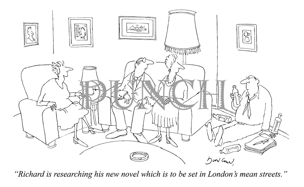 """""""Richard is researching his new novel which is to be set in London's mean streets."""""""