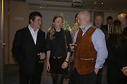Steven Heffer, Juliet Svetlichnaja and David Kirke, The Real McCoy. Christmas party and charity art sale. Collyer Bristow. Bedford Row. London. 6 December 2006.  ONE TIME USE ONLY - DO NOT ARCHIVE  © Copyright Photograph by Dafydd Jones 248 CLAPHAM PARK RD. LONDON SW90PZ.  Tel 020 7733 0108 www.dafjones.com