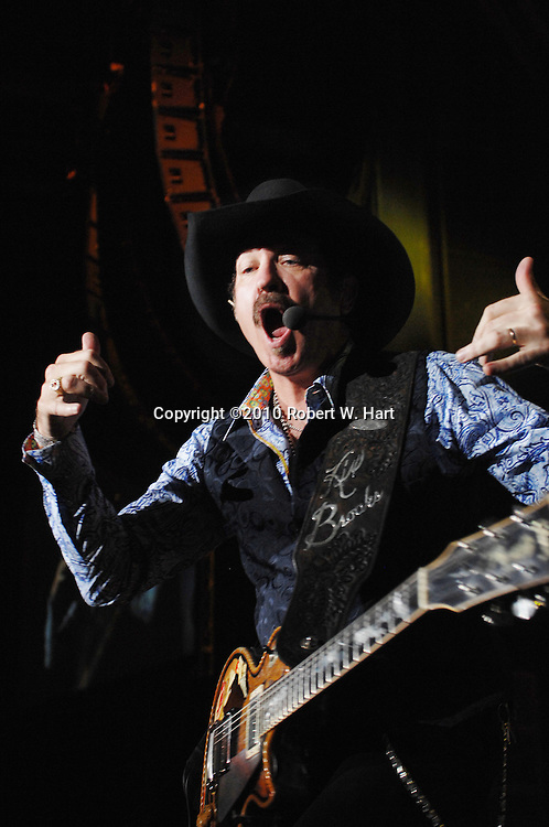 May 29, 2010 - Dallas, Texas, USA - KIX BROOKS OF THE DUO BROOKS AND DUNN performs Saturday, May 29, 2010, night at Superpages.com Center in Dallas, Texas. This is the Brooks and Dunn duo's farewell tour and this was their final concert in Dallas. (Credit Image: © Robert W. Hart/ZUMA Press)