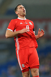 14th November 2017 - International Friendly - Wales v Panama - Sam Vokes of Wales rues a missed opportunity - Photo: Simon Stacpoole / Offside.