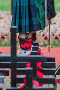 Scottish soldiers in kilts - The Duke of Edinburgh, Life Member, Royal British Legion, accompanied by Prince Harry, visit the Field of Remembrance at Westminster Abbey  - 10 November 2016, London.