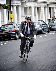 Boris Johnson, Mayor of London, on his way to a visit to Pimlico Academy School, Pimlico, London, Great Britain, October 19, 2012. Photo by Elliott Franks / i-Images.