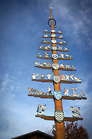 A decorative Maypole, Eggstätt, Germany.