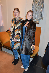 Left to right, LADY ALICE HERBERT and LADY JEMIMA HERBERT at a party to celebrate the launch of Olivia von Halle, 151 Sloane Street, London on 25thNovember 2015