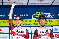 Tadej POGACAR of UAE TEAM EMIRATES and Diego ULISSI of UAE TEAM EMIRATES during 1st Stage of 27th Tour of Slovenia 2021 cycling race between Ptuj and Rogaska Slatina (151,5 km), on June 9, 2021 in Slovenia. Photo by Matic Klansek Velej / Sportida