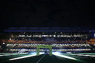 a view of the Lighting display before k/o. Premier league match, Chelsea v Liverpool at Stamford Bridge in London on Friday 16th September 2016.<br /> pic by John Patrick Fletcher, Andrew Orchard sports photography.