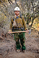 Ukonom Hotshots at the end of their day on the La Brea Fire in the Los Padres National Forest.