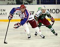 Ishockey , 12. oktober 2008 , Get-ligaen , Frisk Asker - Vålerenga <br /> Regan Kelley , VIF og Ken Andre Olimb , Frisk