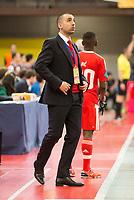 Benfica's coach Joel Rocha during UEFA Futsal Cup 2015/2016 3º/4º place match. April 22,2016. (ALTERPHOTOS/Acero)