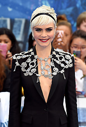 Cara Delevingne attending the European premiere of Valerian and the City of a Thousand Planets at Cineworld in Leicester Square, London