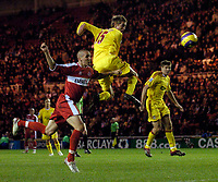 Photo: Jed Wee.<br />Middlesbrough v Liverpool. The Barclays Premiership. 18/11/2006.<br /><br />Liverpool's Peter Crouch was thrown on with 15 minutes to go in a desperate attempt to salvage the game.