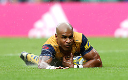 Tom Varndell of Bristol Rugby scores the opening try against Harlequins - Mandatory by-line: Robbie Stephenson/JMP - 03/09/2016 - RUGBY - Twickenham - London, England - Harlequins v Bristol Rugby - Aviva Premiership London Double Header