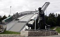 Ski<br /> 01.09.2010<br /> Foto: Morten Olsen, Digitalsport<br /> <br /> Holmenkollen<br /> Venue for the 2011 World Championships Nordic Skiing<br /> Ongoing construction work<br /> <br /> Holmenkollen<br /> Arena for VM på ski nordiske grener 2011<br /> Anleggsarbeidet holder på<br /> <br /> The statue of King Olav V<br /> Statuen av Kong Olav V