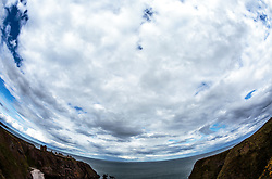 THEMENBILD - Wolken über der Burgruine Dunnottar Castle bei Stonehaven, Schottland, aufgenommen am 07. Juni 2015 // clouds above the ruins of Dunnottar Castle near Stonehaven, Scotland on 2015/06/07. EXPA Pictures © 2015, PhotoCredit: EXPA/ JFK