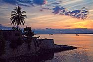 Sunset in Gibara, Holguin, Cuba.