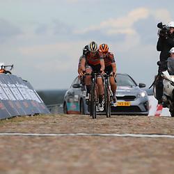 22-08-2020: Wielrennen: NK vrouwen: Drijber<br /> |Anna van der Breggen (Netherlands / Boels - Dolmans Cycling Team)Jip van den Bos (Netherlands / Boels - Dolmans Cycling Team) passage finish