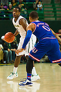WACO, TX - JANUARY 7: Kenny Chery #1 of the Baylor Bears brings the ball up court against the Kansas Jayhawks on January 7, 2015 at the Ferrell Center in Waco, Texas.  (Photo by Cooper Neill/Getty Images) *** Local Caption *** Kenny Chery