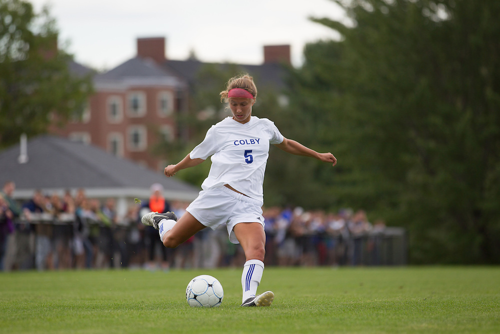 Amanda Findlay, of Colby College, in an NCAA Division III college soccer game against Williams College at Colby College, Saturday Sept. 7, 2012 in Waterville, ME. (Dustin Satloff/Colby College Athletics)
