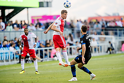 June 13, 2018 - San Jose, CA, U.S. - SAN JOSE, CA - JUNE 13: New England Revolution Forward Krisztian Nemeth (9) flicks on a ball during the MLS game between the New England Revolution and the San Jose Earthquakes on June 13, 2018, at Avaya Stadium in San Jose, CA. The game ended in a 2-2 tie. (Photo by Bob Kupbens/Icon Sportswire) (Credit Image: © Bob Kupbens/Icon SMI via ZUMA Press)
