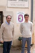 Philippe Delarche, owner winemaker, and his son Etienne domaine m delarche pernand-vergelesses cote de beaune burgundy france