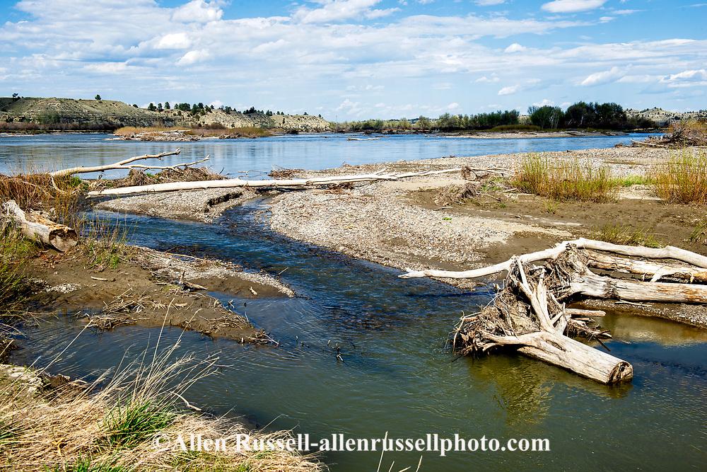 Yellowstone River, east of Pompeys Pillar, Montana, Captain Clark Fishing Access Site