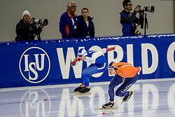 10-11-2017 NED: ISU World Cup, Heerenveen<br /> 500 m men, Hein Otterspeer NED, Ruslan Murashov RUS