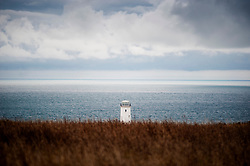 The Old Lower Lighthouse at Portland Bill, Isle of Portland, Dorset, England, UK.