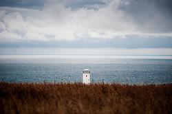 The Old Lower Lighthouse at Portland Bill, Isle of Portland, Dorset, England, UK.