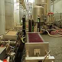 South America, Chile, Santiago. Wine Factory Plant at Santa Rita Winery.