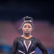 TOKYO, JAPAN - JULY 22: Simone Biles of the United States during the Artistic Gymnastics Podium Training at the Ariake Gymnastics Centre in preparation for the Tokyo 2020 Olympic Games on July 22, 2021 in Tokyo, Japan. (Photo by Tim Clayton/Corbis via Getty Images)
