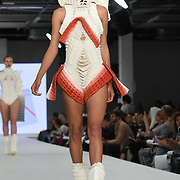 Designer Jacaranda Brain at the Best of Graduate Fashion Week showcases at the Graduate Fashion Week 2018, June 6 2018 at Truman Brewery, London, UK.