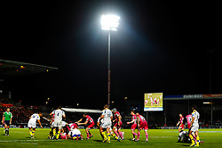 General view of a breakdown during the second half of the match - Photo mandatory by-line: Rogan Thomson/JMP - Tel: Mobile: 07966 386802 20/10/2012 - SPORT - RUGBY - Sandy Park Stadium - Exeter. Exeter Chiefs v ASM Clermont Auvergne - Heineken Cup Round 2