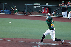 08 July 2017:  Yeixon Ruiz during a Frontier League Baseball game between the Traverse City Beach Bums and the Normal CornBelters at Corn Crib Stadium on the campus of Heartland Community College in Normal Illinois
