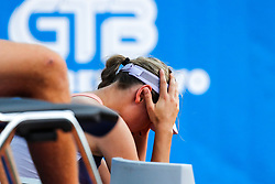Kaja Juvan of team West dissapointed during Day 2 of tennis tournament Mima Jausovec cup where compete best Slovenian tennis players of the East and West, on June 7, 2020 in RCU Lukovica, Slovenia. Photo by Matic Klansek Velej / Sportida