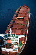 Iron Ore carrier in Port Hedland, Western Australia