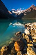 Morning light on Lake Louise, Banff National Park, Alberta, Canada