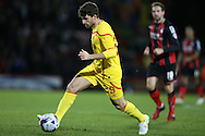 Liverpool striker Fabio Borini during the Capital One Cup match between Bournemouth and Liverpool at the Goldsands Stadium, Bournemouth, England on 17 December 2014.