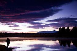 Photographer, sunrise, Grand Teton National Park