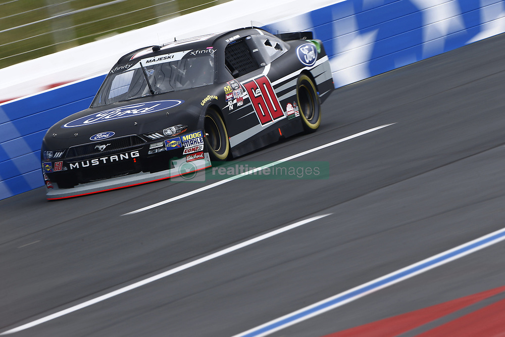 September 27, 2018 - Concord, North Carolina, United States of America - Ty Majeski (60) races down the back straightaway during practice the Drive for the Cure 200 at Charlotte Motor Speedway in Concord, North Carolina. (Credit Image: © Chris Owens Asp Inc/ASP via ZUMA Wire)