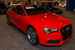 CHARLOTTE, NORTH CAROLINA - NOVEMBER 20, 2014: Audi S5 coupe on display during the 2014 Charlotte International Auto Show at the Charlotte Convention Center.